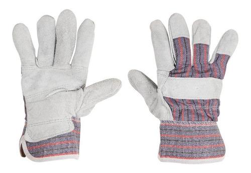 guantes de carnaza y loneta talla grande   b29976