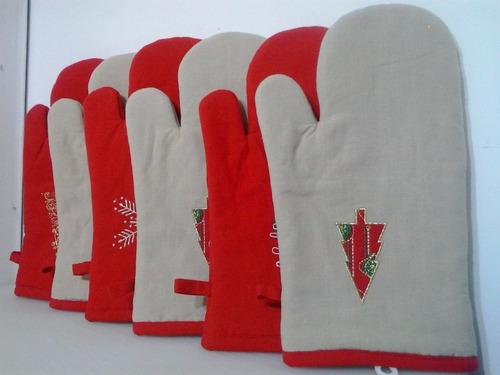 guantes de cocina navideños navidad hermosos modelos