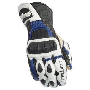 guantes de cuero cortech latigo 2 rr blanco/azul xl