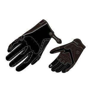 guantes de cuero fieldsheer soul ride p/hombre, negro xs