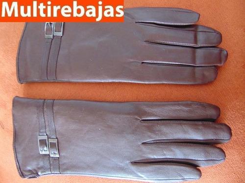guantes de cuero italiano de mujer talla s-m oferta navideña