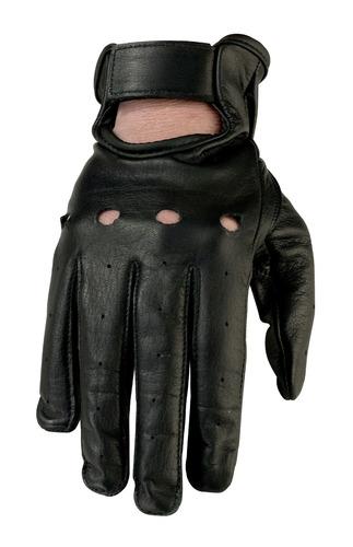 guantes de cuero negros z1r 243 womens, md
