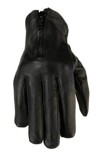 guantes de cuero negros z1r 7mm womens, md