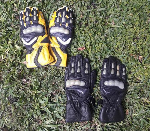 guantes de cuero para moto marca protec