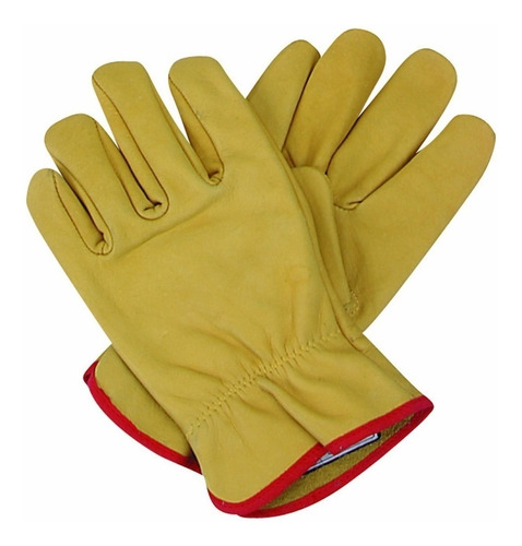 guantes de cuero vaqueta medio paseo par premium