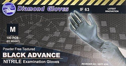 guantes de diamante black advance nitrile examination guant