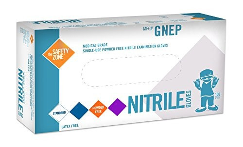 guantes de examen de nitrilo - grado médico, libre de polvo,