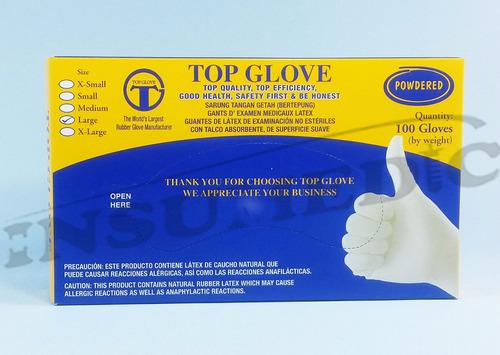 guantes de examinacion talla medium (m) latex 10cajas x100