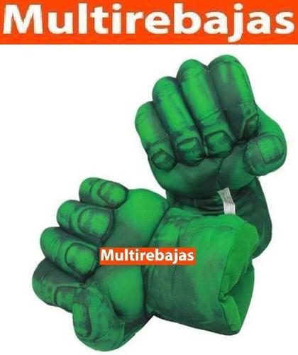 guantes de felpa para boxeo de hulk, iron man y tanos