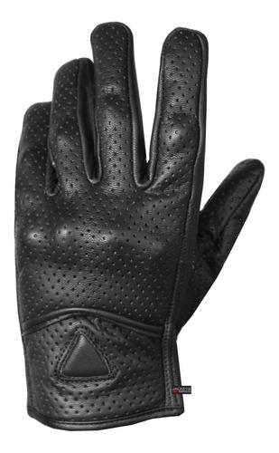 guantes de gel protectores de crucero perforado de cuero de