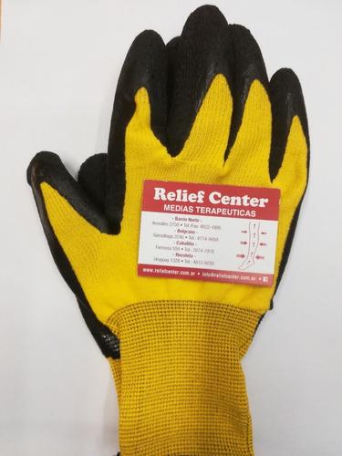 guantes de goma para colocación de medias terapéuticas