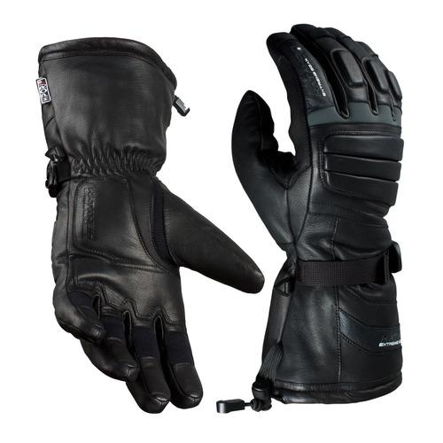 guantes de invierno katahdin apex de cuero gris xs