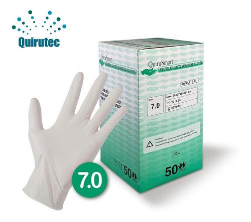 guantes de látex (6.0 a 8.0) quirusmart (caja x 50 pares)