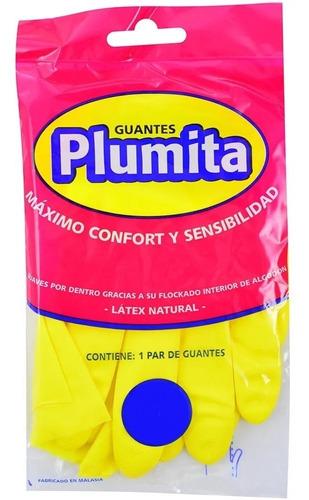 guantes de latex afelpados plumita pack 3 pares domesticos