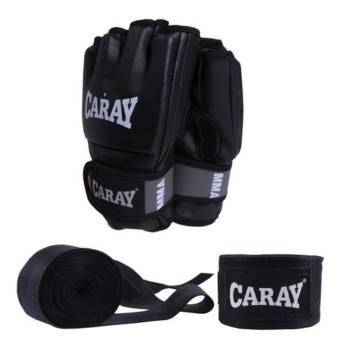 guantes de mma + vendas de 3mt caray