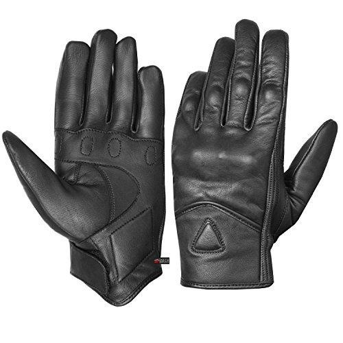 guantes de moto de cuero de carretera de lujo premium str...