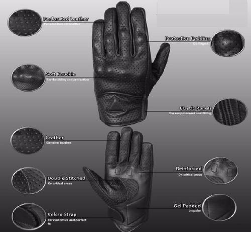 guantes de motociclismo de  cuero impermiables