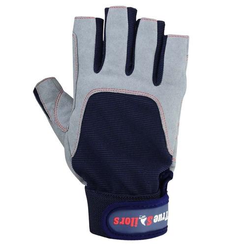 guantes de navegación guantes deckhand azul-gris (grande)
