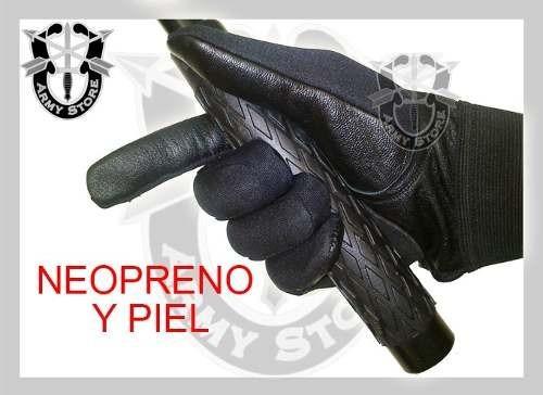 guantes de neopreno con piel invernales. uso militar, swat..
