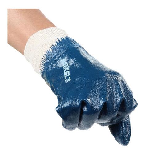 guantes de nitrilo c/forro de algodon mikels herramienta
