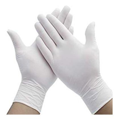 guantes de nitrilo libre de látex y talco