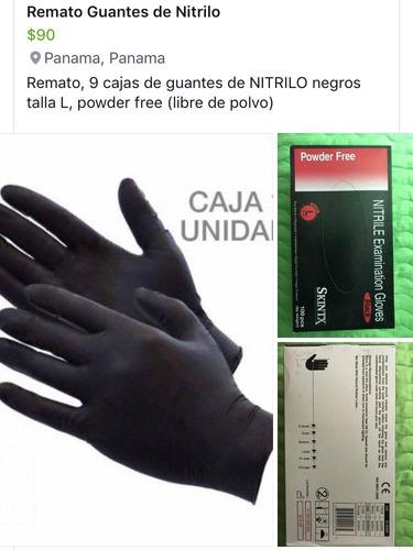 guantes de nitrilo negro