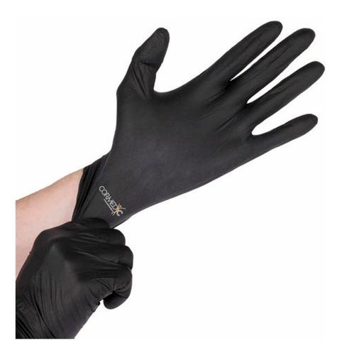 guantes de nitrilo negro s/polvo 100u / cormedic