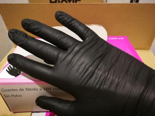 guantes de nitrilo talla s color negro