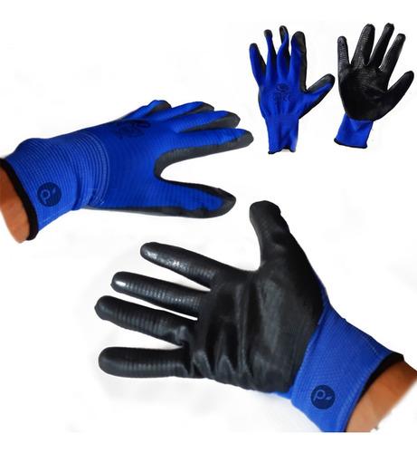 guantes de nylon recubierto 60% con nitrilo, seguridad