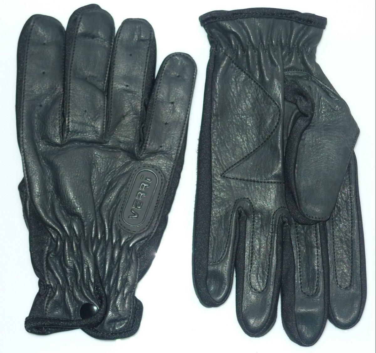Guantes de piel cabra para motociclista marca verri mod for Guantes de piel madrid