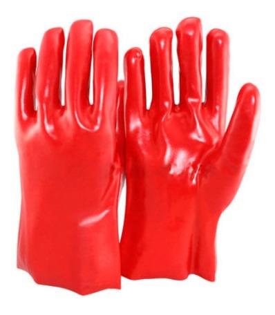 guantes de pvc de 45cm rojo