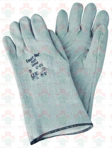 guantes de seguridad largos color gris talla l ¡