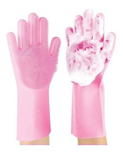 guantes de silicona multiuso lava vajillas magic brush