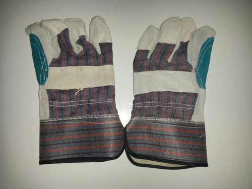 guantes de tela con carnaza reforzados tipo pistola
