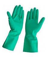 guantes de tela y nitrillo verde