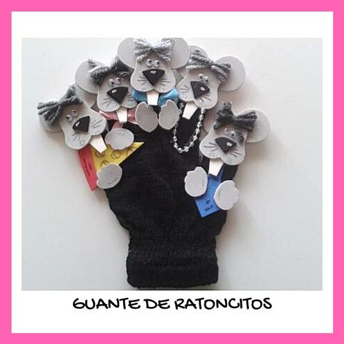 guantes de títeres familia y ratones