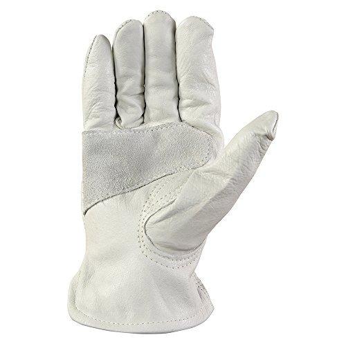 guantes de trabajo de cuero con cierre de muñeca, bricolaje,