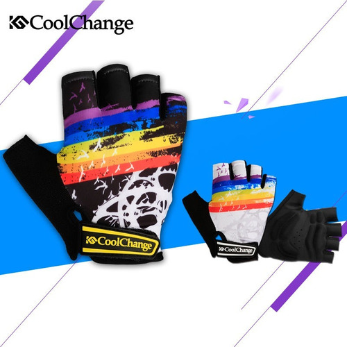 guantes deportivos coolchange ciclismo, gym