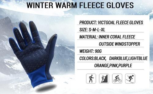 guantes deportivos windstopper térmicos touch antislip