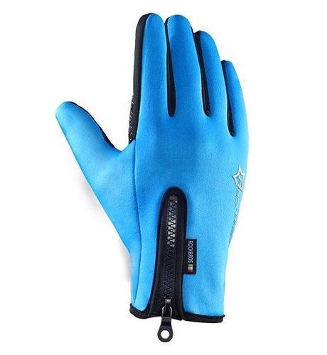 guantes deportivosdeortivos celestes talla m