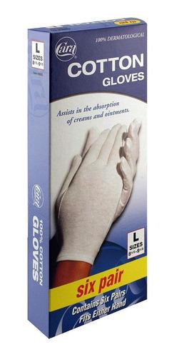 guantes dermatológicos de algodón 6 pares envio gratis
