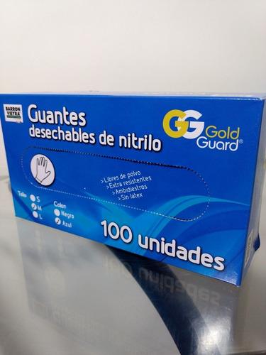 guantes desechables de nitrilo.