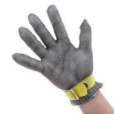 guantes en acero inoxidable