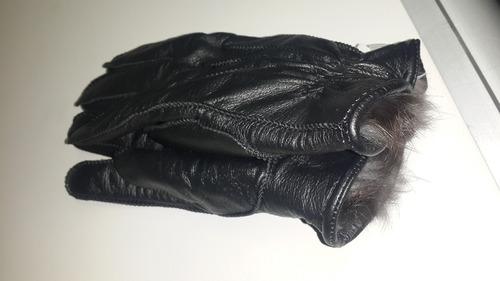 guantes en cuero cabrito forro en cuero conejo