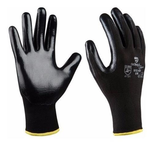 guantes en poliester de nitrilo