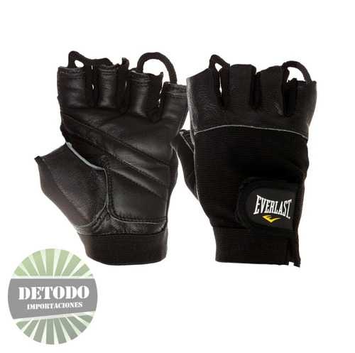 guantes everlast authority 2 cuero para pesas, gimnasio, gym