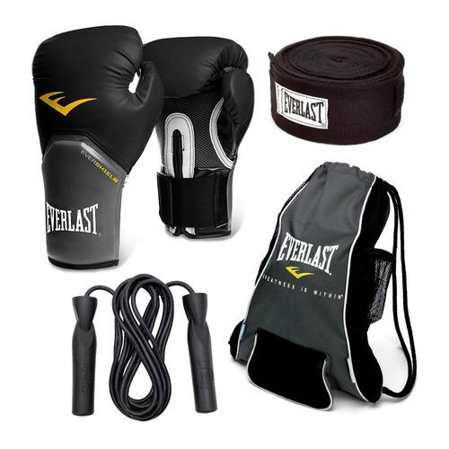 guantes everlast box vendas cuerda y mochila 12 y 14 oz