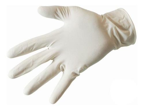 guantes examen látex caja 100 und. (chico, mediano, grande)