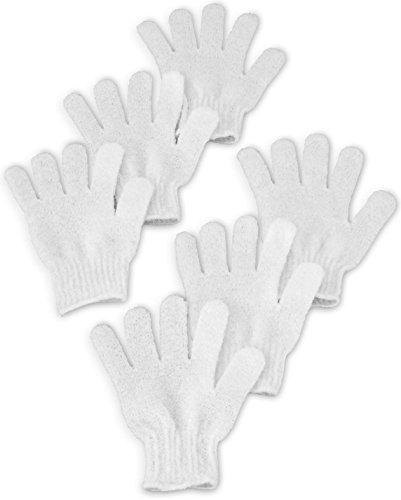 guantes exfoliantes bath ducha, deep exfoliante mitt elimin