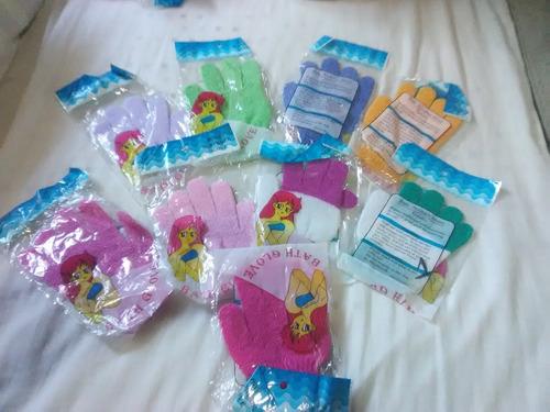 guantes exfoliantes de baño individual